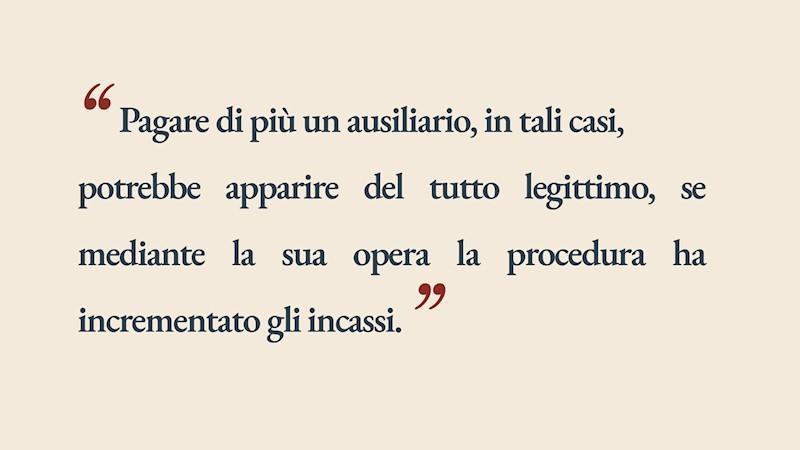 Giulio Borella - Compensi